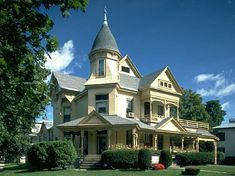 Gilson House - Saratoga Springs, NY - Brick Queen Anne built in 1885.  This house was built by Colonel Joseph Gilson, a lumber merchant from Georgia, as a summer home. It is now a funeral parlor.