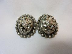 Vintage Sterling Silver Earrings Tested 925 Clip On by KathiJanes