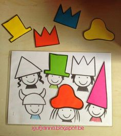 matching hats activities for kids Montessori Activities, Learning Activities, Preschool Activities, Theme Carnaval, Shape Games, Crazy Hats, Toddler Learning, Baby Play, Business For Kids