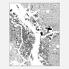 Portland Map 24x30x1.5 White now featured on Fab.