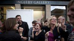 Festival goers enjoy Art Late at the Edinburgh Art Festival