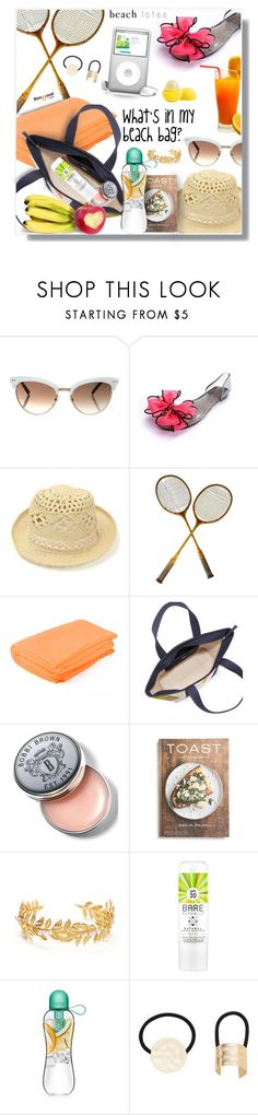 """what's in my beach bag?! (20)"" by wannanna ❤ liked on Polyvore featuring Gucci, Tory Burch, Bobbi Brown Cosmetics, PHAIDON, MANGO and beachtotes"
