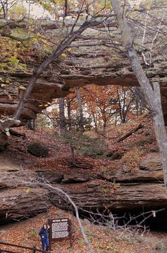 Natural Bridge State Park, in Sauk County, Wisconsin
