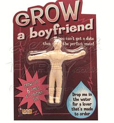 Grow A Boyfriend Gag Gift- for all my single friends ;p