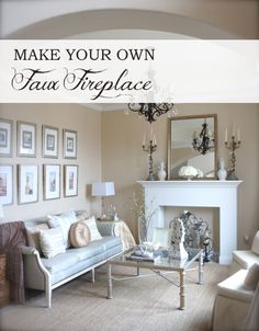DIY Faux Fireplace!  Would be fun to add to a master suite too! #plans #DIY