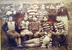 Early football (American) at the collegiate level, 1880 to 1890.  (I personally think this is high school, mid 1890s.)    fksa.org
