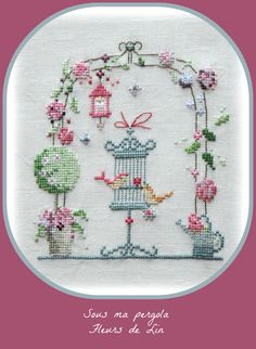 Blackwork Cross Stitch, Cross Stitch Needles, Cross Stitch Samplers, Cross Stitching, Cross Stitch House, Cross Stitch Bird, Cross Stitch Designs, Cross Stitch Patterns, Christmas Embroidery Patterns