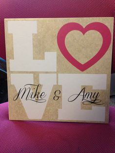 $10 12x12 inch tile personalized.