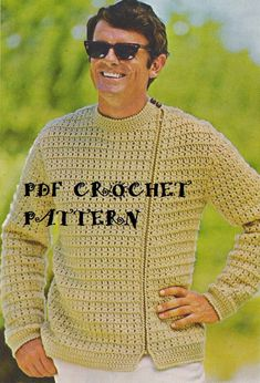 Instant Download Vintage Men's Crocheted by KatnaboxCrochet