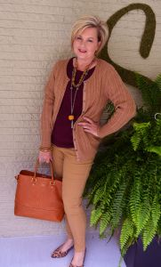 Fashion over 40. Fall fashion outfit. Perfect for women over 40, 50, and older!