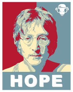 John Lennon - The Beatles Hope Style