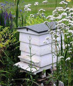 Old-fashioned ornamental bee hive. The Garden& active bee hives are tucked away off the South Walk. Raising Bees, Backyard Beekeeping, Birds And The Bees, Bees Knees, Gardening For Beginners, Bee Keeping, The Ranch, Dream Garden, Farm Life