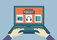 Vector Flat Concept Of Audio Podcast. Subscription As Business M