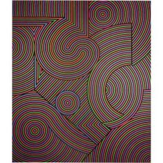 Tekers-MC - Victor Vasarely 1981 Acrylic on canvas 235x201cm