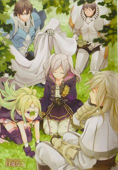 Fire Emblem: Awakening - Avatar, Nowi, Libra, And Frederick. There is an awfully large opening in the back though...
