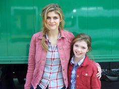 Alexandra Daddario with younger her