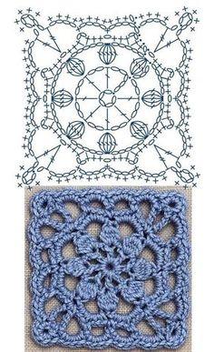 Transcendent Crochet a Solid Granny Square Ideas. Inconceivable Crochet a Solid Granny Square Ideas. Crochet Motif Patterns, Crochet Diagram, Crochet Chart, Crochet Stitches, Crochet Ideas, Crochet Flower Squares, Crochet Granny Square Afghan, Crochet Blocks, Granny Squares