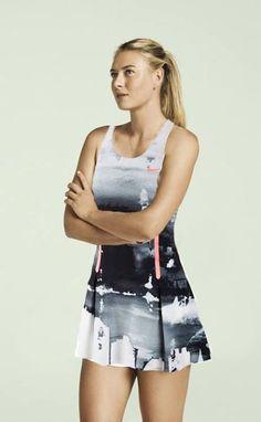 Maria Sharapova's 2013 US Open #Tennis dress. Shame we never saw her wear it. #TennisCouture #TennisFashion