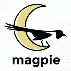 Exclusive Customizable Logo For Sale: Magpie by Mistershot #logo, #mark, #bird…