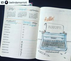 bullet journal inspiration:  That #typewriter! Have you ever seen anything so beautiful? Gorgeous #monthly…