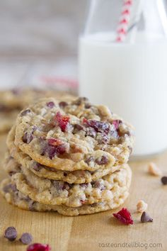 Chocolate Toffee Cranberry Cookies Recipe on Yummly