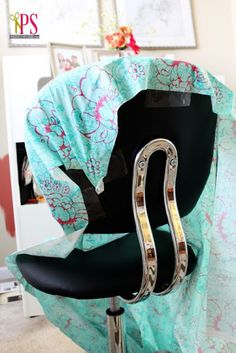 DIY Office Chair Slipcover - actually has video tutorials?