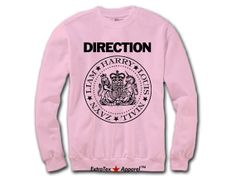 One Direction Ramones Sweatshirt, 1D Ramones Logo Original Print on Soft Sweatshirt