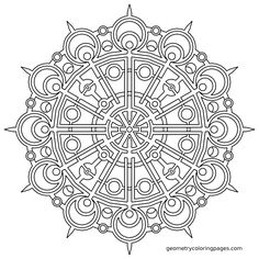 geometric mandala coloring page pictures picture