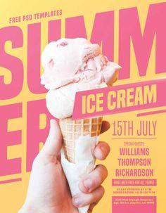 Check out the Summer Ice Cream Party Kostenlose PSD Flyer Vorlage nur auf freepsdflye Free PSD Flyer Templates Flugblatt Design, Graphic Design Flyer, Food Poster Design, Design Brochure, Poster Design Inspiration, Flyer Design, Poster Designs, Flyer And Poster Design, Ice Cream Party