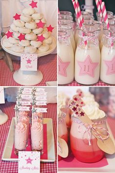 Party idea, I love the milkshskes!