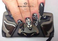 Diabolos, Top Secret Gel Polish + Paint Gel by Justyna Tsoumpas Indigo Young Team #nails #nail #indigo #indigonails #moro #green #jungle #wild #moronails