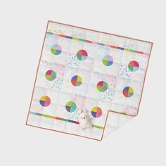 colorbox | panel print | quick baby quilt by Zen Chic - this modern low volume collection comes with a fresh panel, which makes for quick gifts