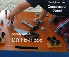Under construction with our DIY fix-it box