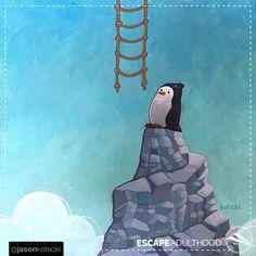 New Beginning by Jason Kotecki #penguins #art #paintings #enjoythejourney