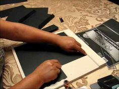 Cardstock envelope pages for mini albums - YouTube