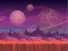 Alien Landscape Vector EPS. Download here: https://graphicriver.net/item/alien-landscape/13198045?ref=ksioks