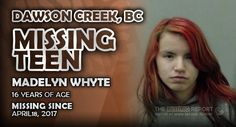 Please help us spread the word about Madelyn Whyte out of Dawson Creek, British Columbia by sharing this report. Dawson Creek, Missing Persons, 16 Year Old, British Columbia, Words, Horse