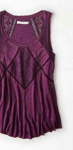 Market & spruce Whitfield crochet detail top. Love this color!