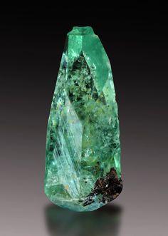 Phosphophyllite - Cerro de Potosí (Cerro Rico), Potosí City, Potosí Department, Bolivia Striking single crystal of a species that has become a holy grail in the mineral world.