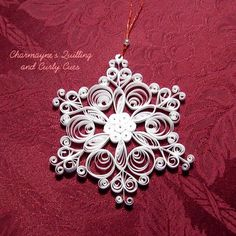 Image result for paper quilling snowflakes tutorial