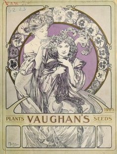 Cover of Vaughan's Seeds (1905) illustrated by Alphonse Mucha (Alfons Maria Mucha) 1860-1939.