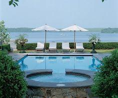 Beautiful pool overlooking the Potomac right outside of Washington, DC