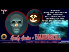 Spooky Goodies and Talking Skull Content Pack for iClone - a little Halloween fun!