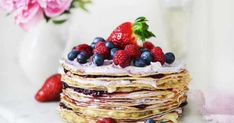 Pancakes, Birthday Parties, Birthday Cakes, Deserts, Candy, Breakfast, Recipes, Food, Drinks