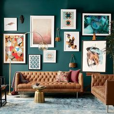 33 Living Room Color Schemes - the Conspiracy - decorincite Living Room Green, Boho Living Room, Living Room Colors, Living Room Paint, Living Room Modern, Living Room Sofa, Living Room Interior, Living Room Designs, Living Rooms