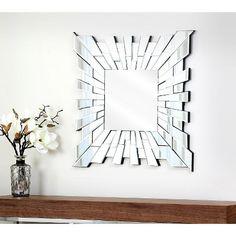 Abbyson Costa Square Mirror - Light Silver