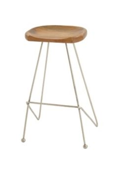 Elegant Wood Saddle Seat Stool