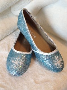 Elsa Shoes for Halloween In Stock and Ready to by MadeByKristinB
