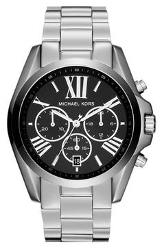 Michael Kors 'Bradshaw' Chronograph Bracelet Watch, 43mm available at #Nordstrom