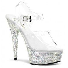 Pleaser Shoes Bejeweled-608DM Platform Sandals